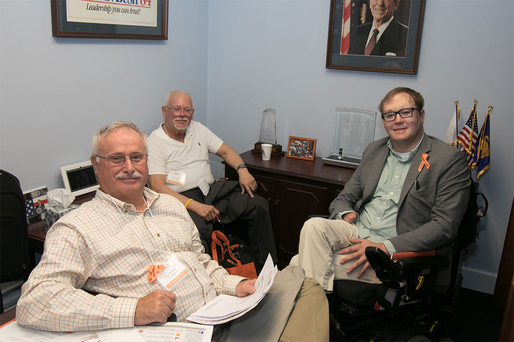 John Morris with Larry and John, preparing for a successful Hill Days