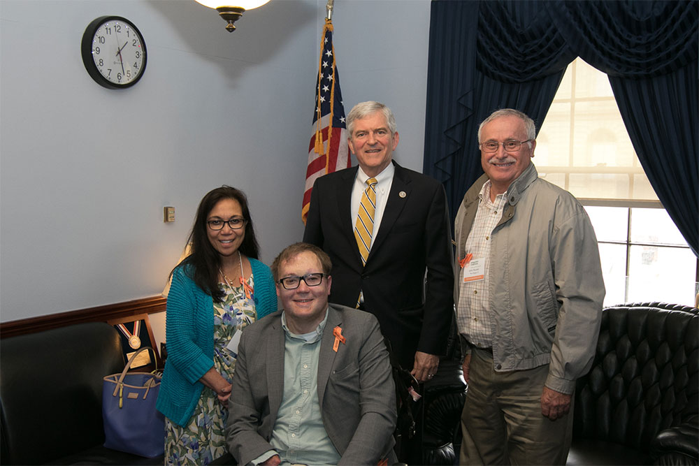 John Morris and other amputees with Congressman Dan Webster