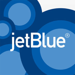JetBlue Airways logo on blue circle background