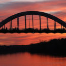 Edmund Pettus Bridge at sunset