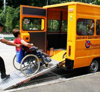 Wheel mobile wheelchair accessible taxi in Manila, Philippines