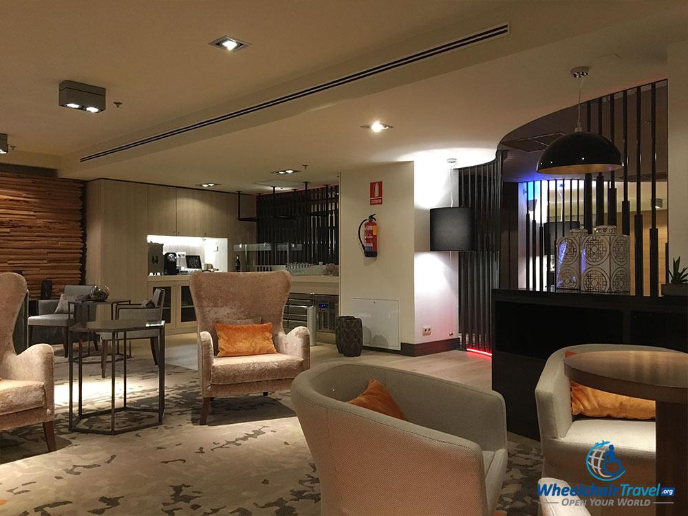 Madrid Marriott Club Lounge.
