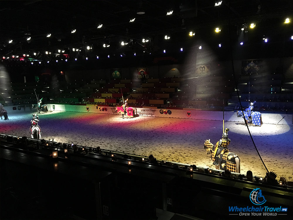 Introduction of the knights at the Medieval Times Tournament.