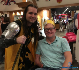 Meeting the victorious Yellow & Black Knight!