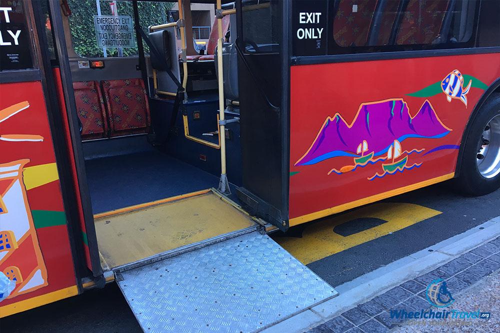 Wheelchair access ramp on City-Sightseeing bus