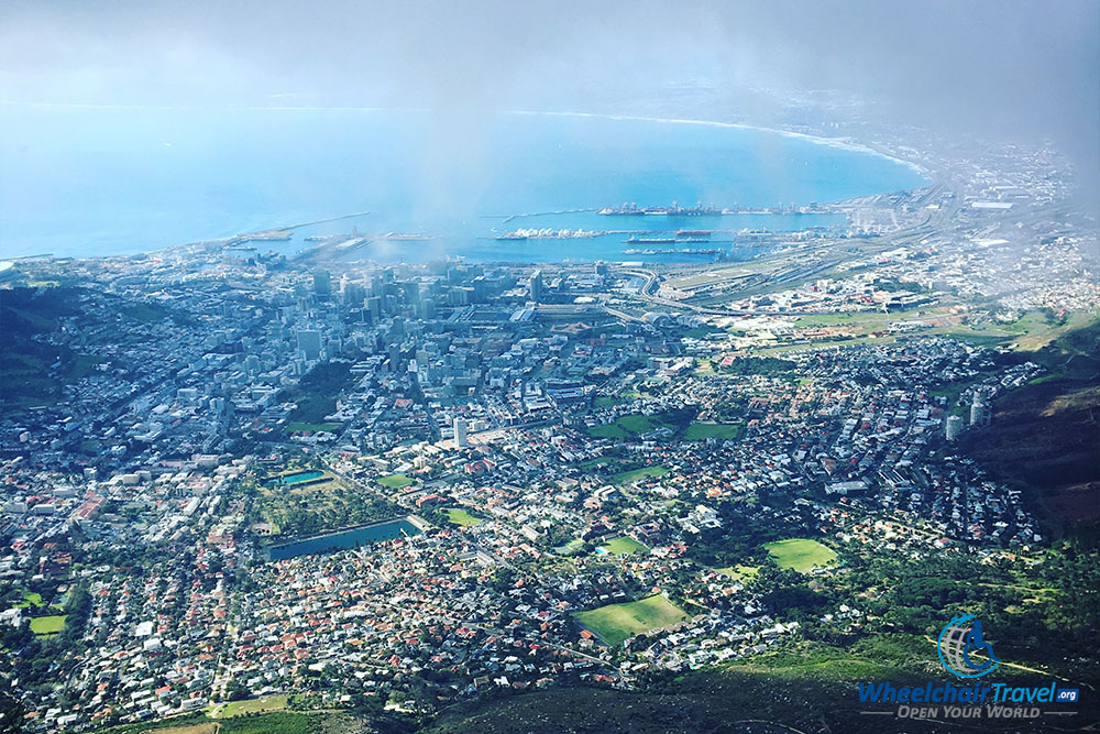 View of Cape Town, South Africa from the top of Table Mountain
