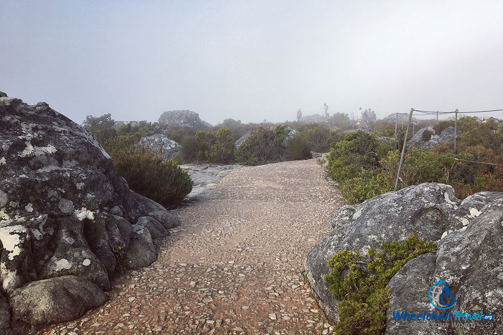 Stone pathway on top of Table Mountain