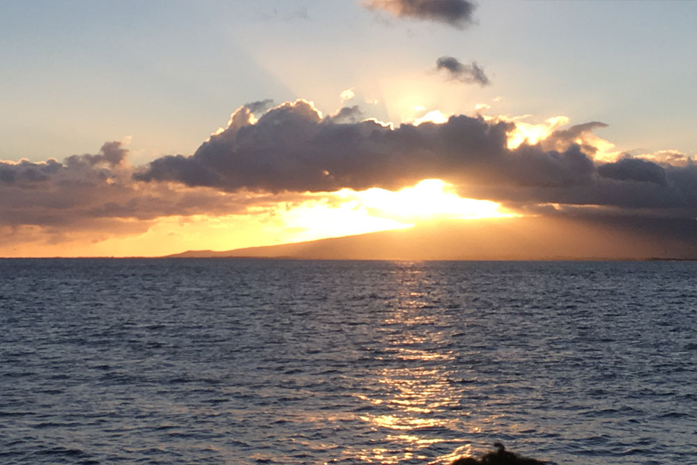 A beautiful sunset captured from the island of Oahu, Hawaii.