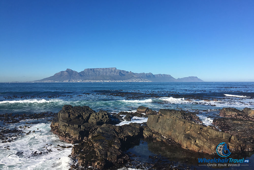 Cape Town, South Africa and Table Mountain, viewed from Robben Island.
