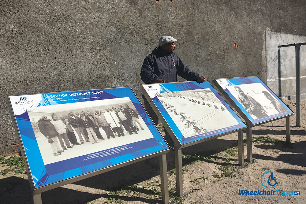 Robben Island tour guide describes life in the prison.