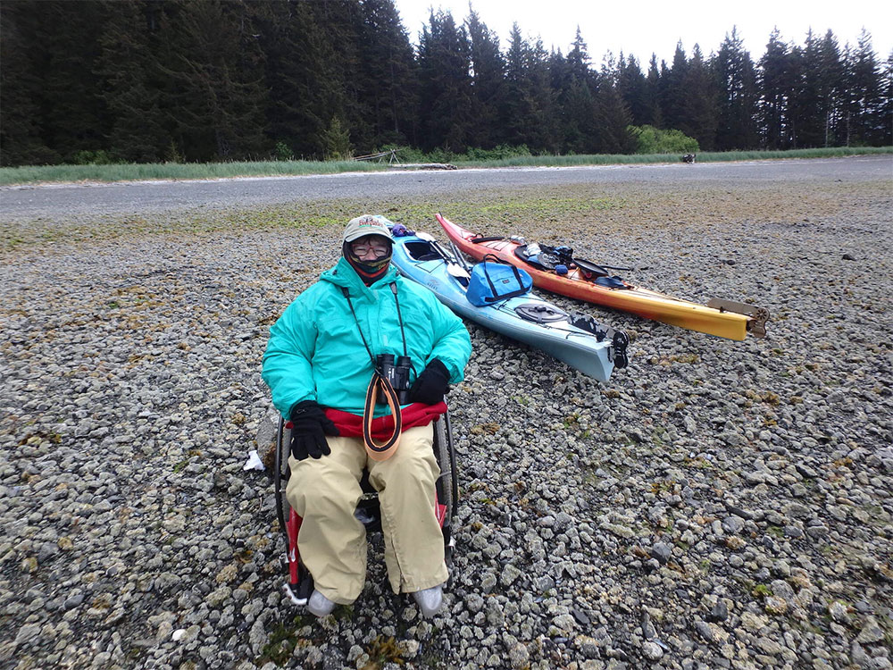 At the campsite in Tutka Bay, Alaska.