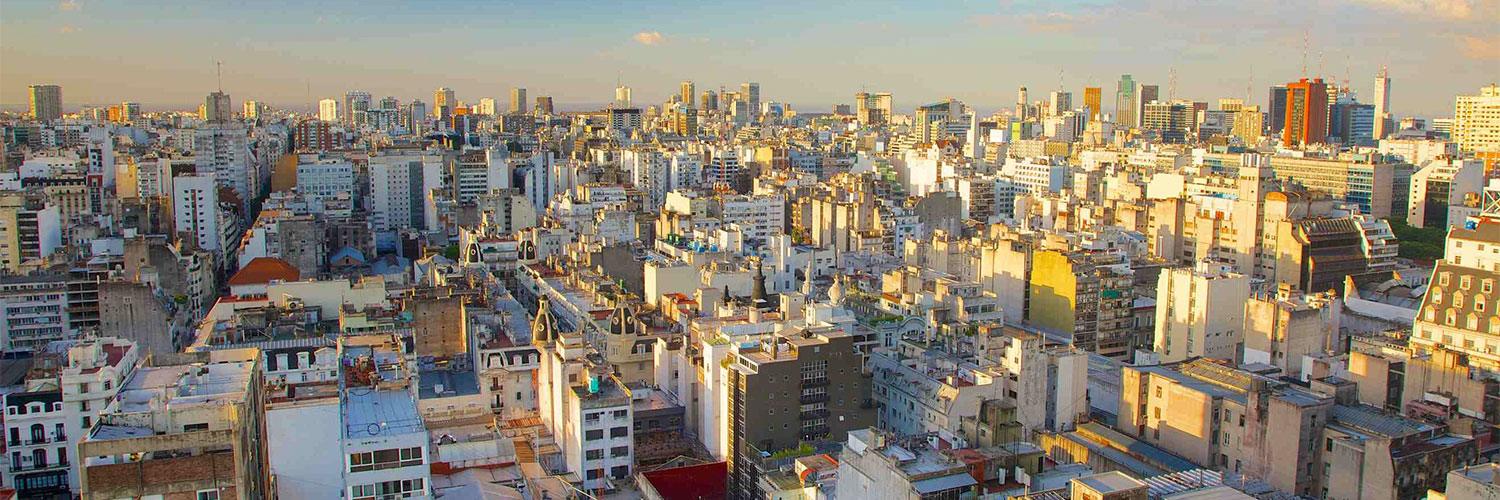 PHOTO: City in South America.